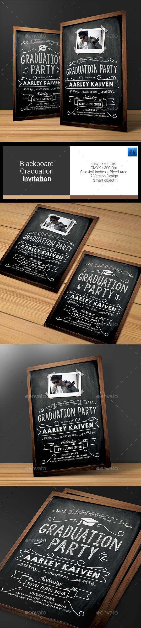 Blackboard Graduation Invitation - Invitations Cards & Invites
