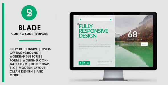 BLADE - Responsive Coming Soon Template - Specialty Pages Site Templates