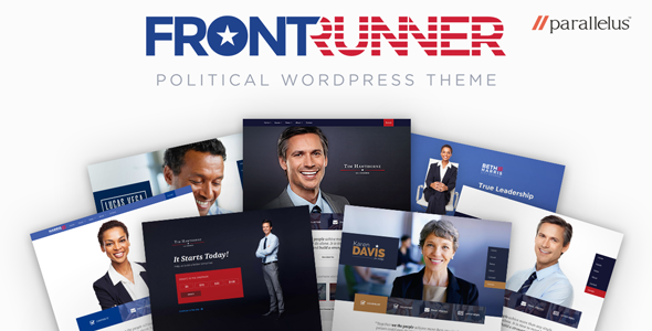 Political WordPress Theme - FrontRunner - Political Nonprofit