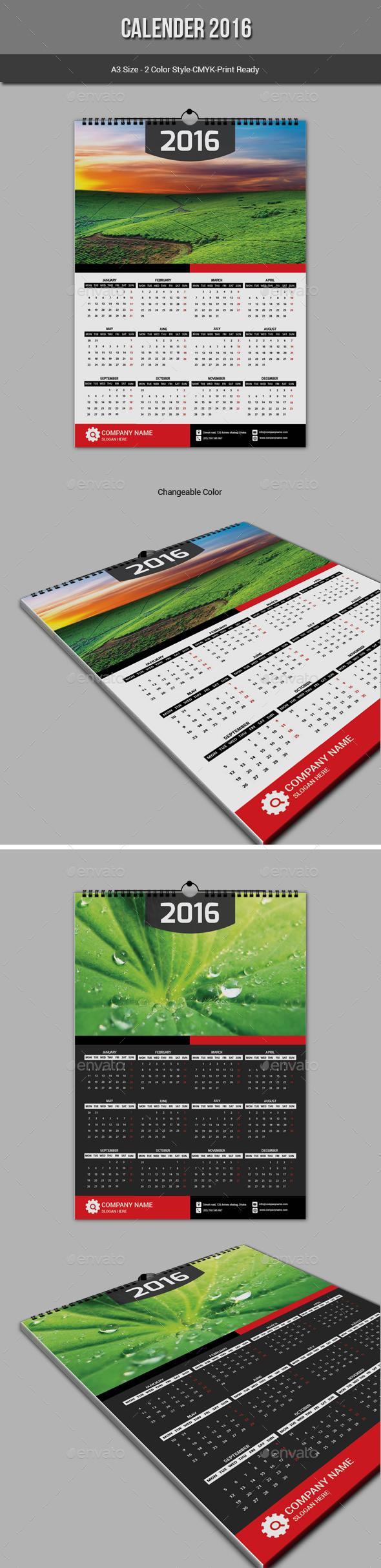 Calender 2016 - Calendars Stationery