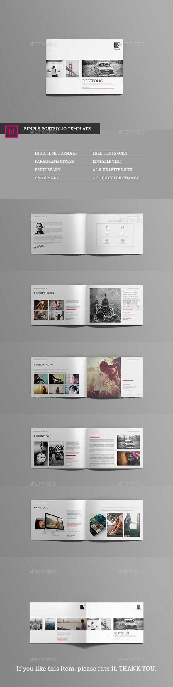 Lands Portfolio Template - Portfolio Brochures