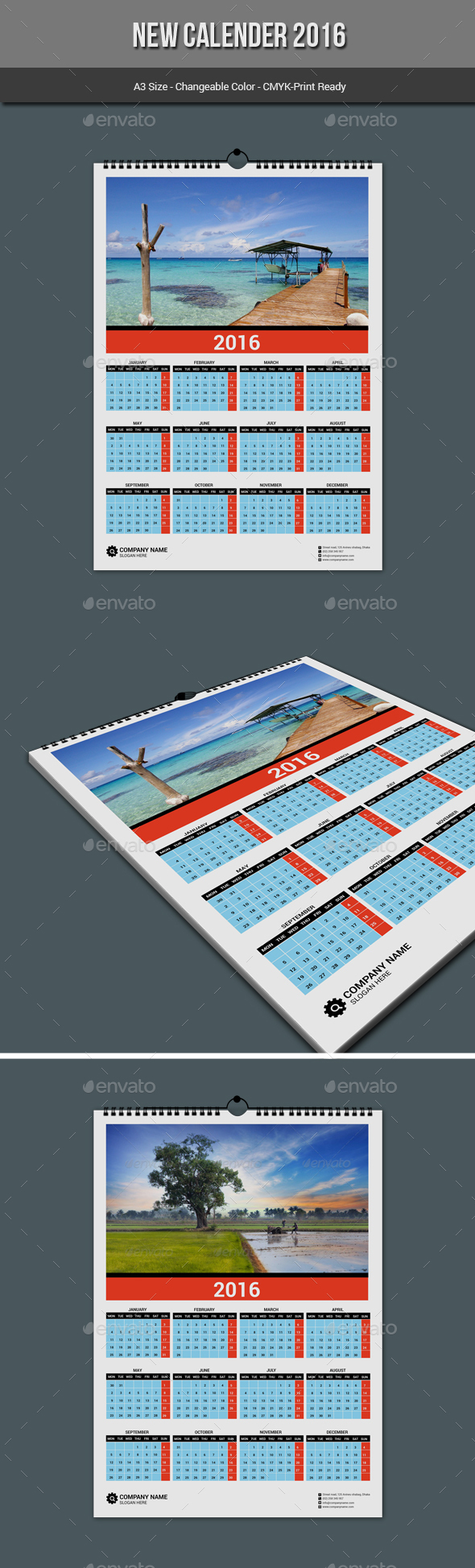 New Calender 2016 - Calendars Stationery