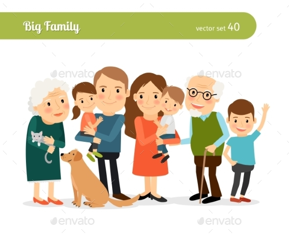 Big Family Portrait - People Characters