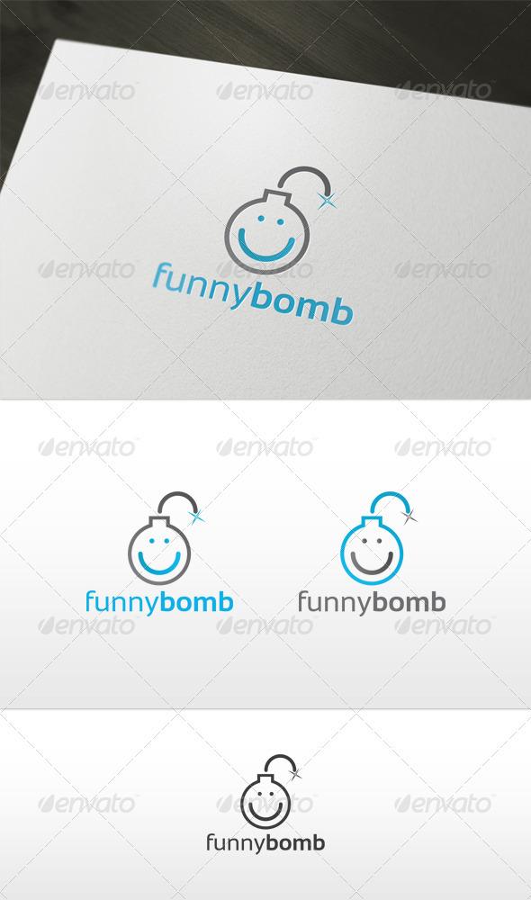 Funny Bomb Logo - Symbols Logo Templates