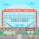 Facade Airport With Bus Stop - GraphicRiver Item for Sale