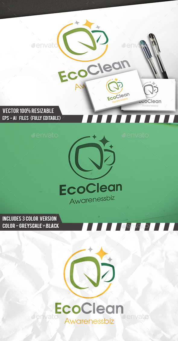 Eco Clean Logo - Nature Logo Templates