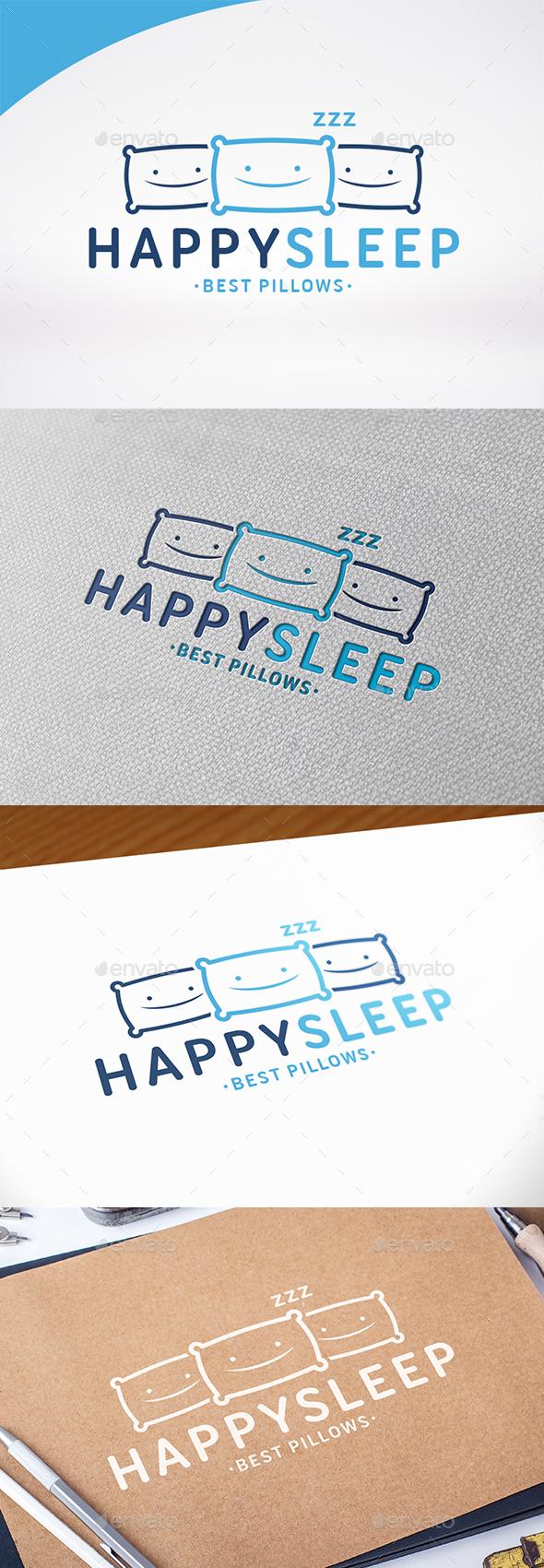Happy Sleep Logo Template - Symbols Logo Templates