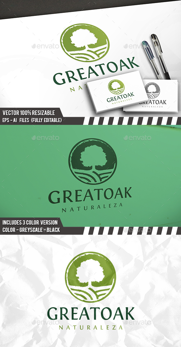 Oak Tree Logo Template - Nature Logo Templates