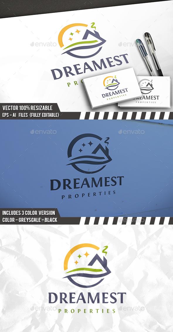 Dream Real Estate Logo - Buildings Logo Templates
