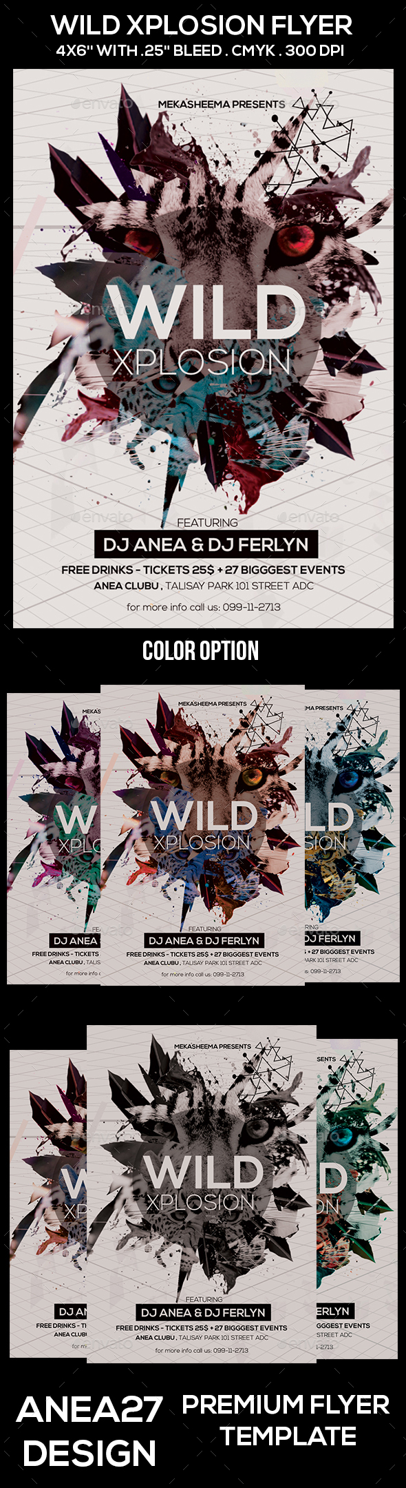 Wild Xplosion  Flyer - Clubs & Parties Events