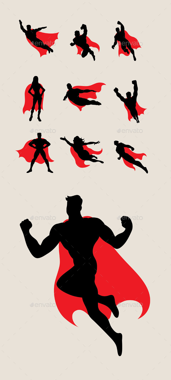 Superhero Silhouettes - Sports/Activity Conceptual