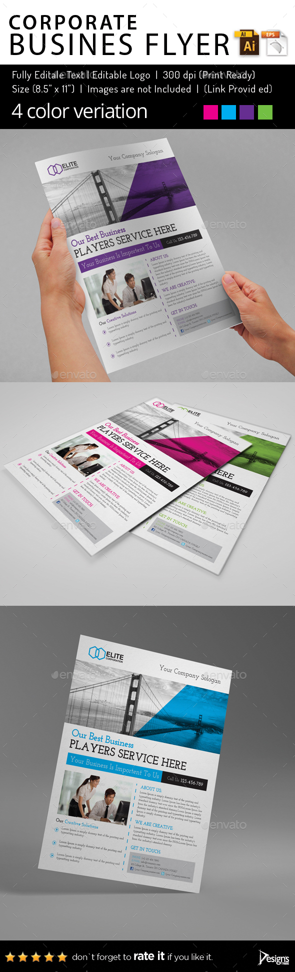 Multipurpose Business Flyer 84 - Corporate Flyers