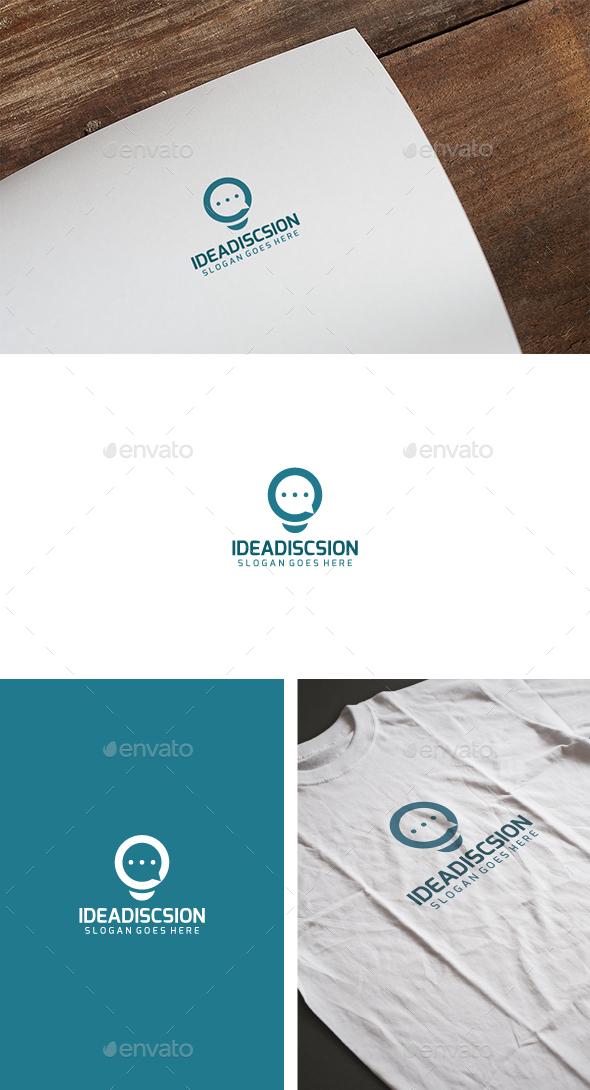 Idea Chat Logo - Abstract Logo Templates
