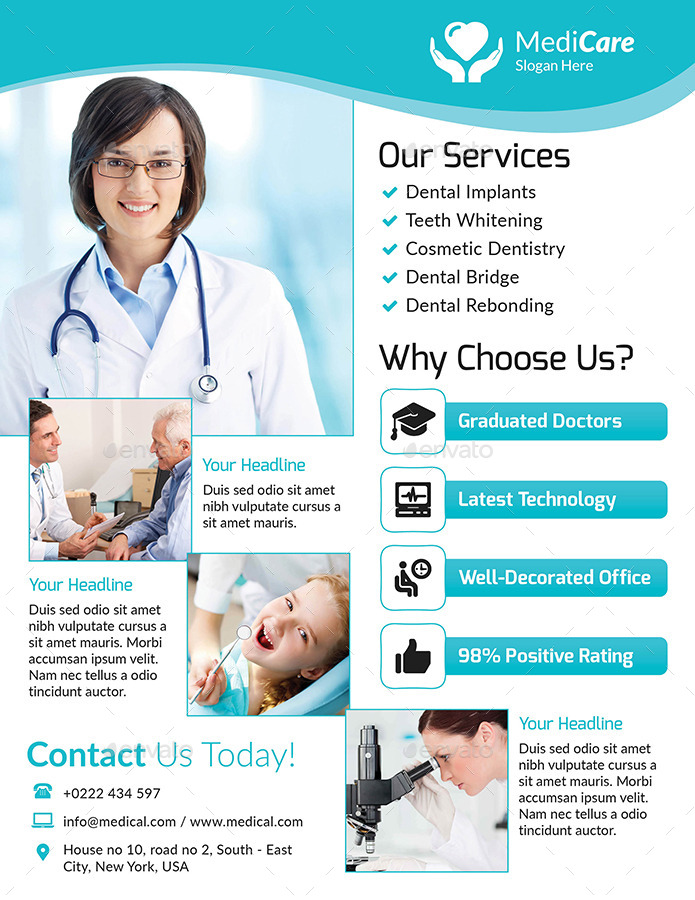 Medical Brochure Template Medical Brochure Templates Google Search