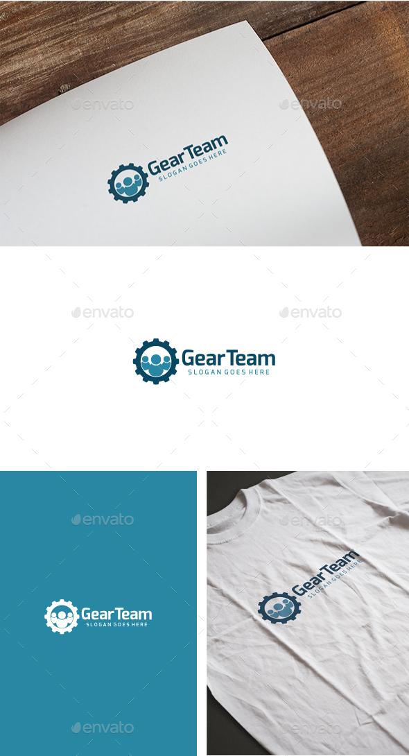 Gear Team Logo - Symbols Logo Templates