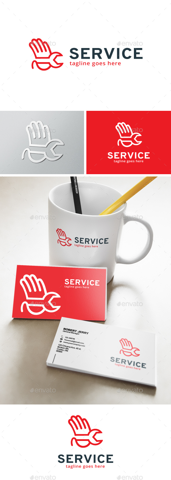 Service Agent Logo - Objects Logo Templates