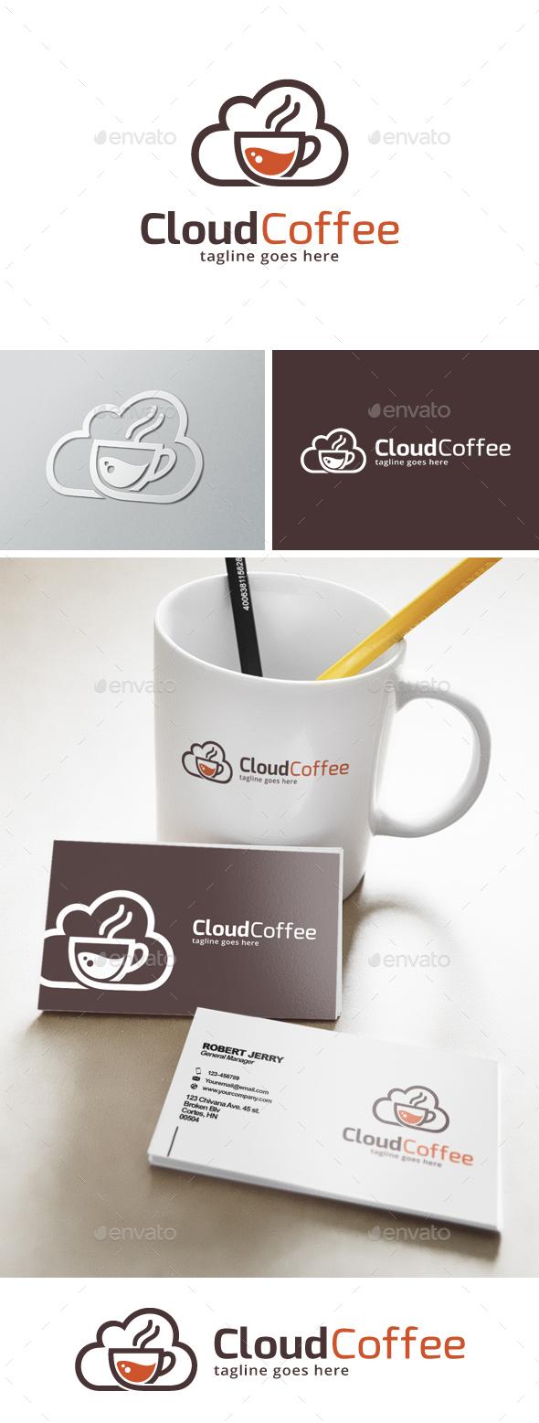 Cloud Coffee Logo  - Food Logo Templates
