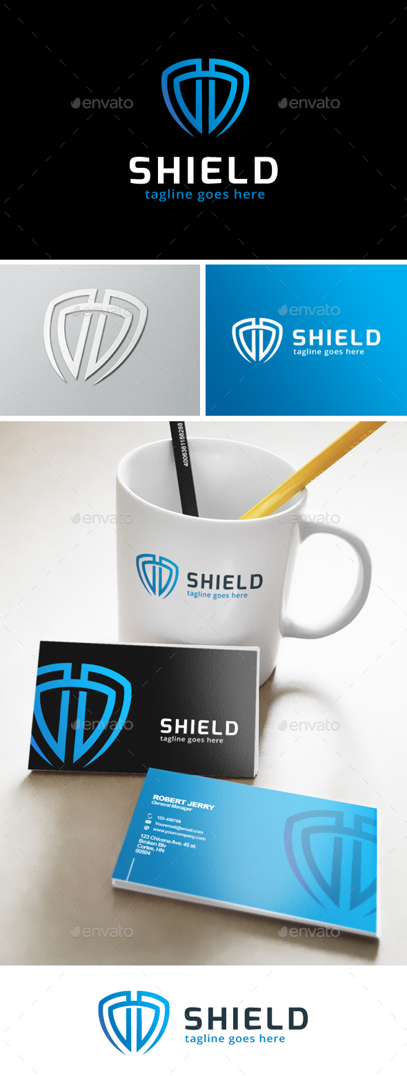 Smart Shield Logo - Objects Logo Templates
