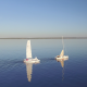 Flying Above Two Yachts - VideoHive Item for Sale
