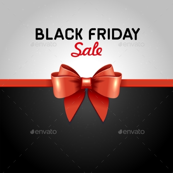 Black Friday Poster Sale With Ribbon And Bow Knot - Backgrounds Decorative