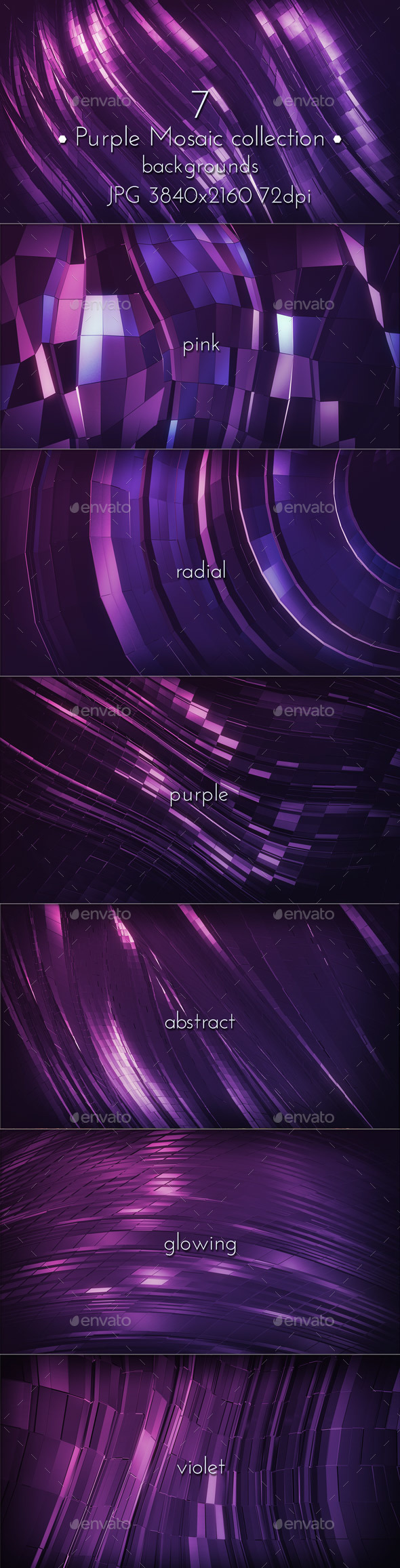Dark Pink Purple Mosaic Background  - Abstract Backgrounds