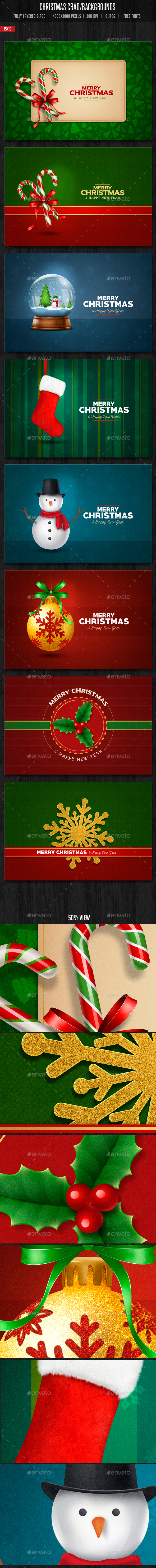 Christmas Cards / Backgrounds - Backgrounds Graphics