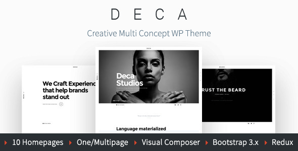 DECA – Creative Multi Concept WP Theme