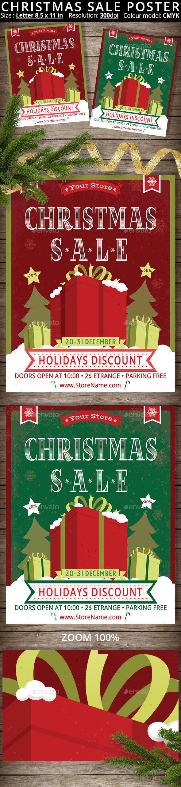 Christmas Sale Poster - Holidays Events