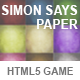 Simon Says Paper - CodeCanyon Item for Sale