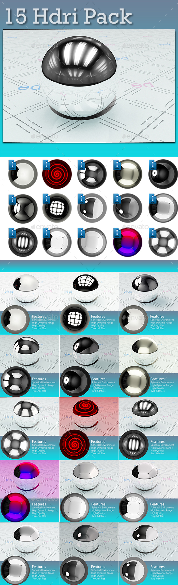 15 Studio HDRi Set Pack - 3DOcean Item for Sale