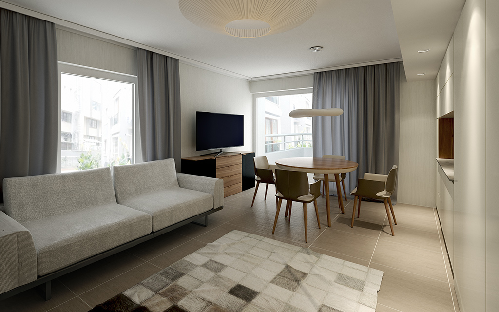 Render interior vray for Living room cinema 4d