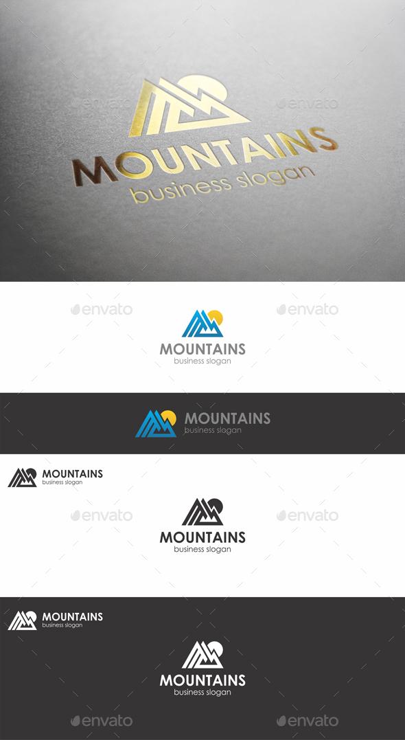 Mountains Peak Logo