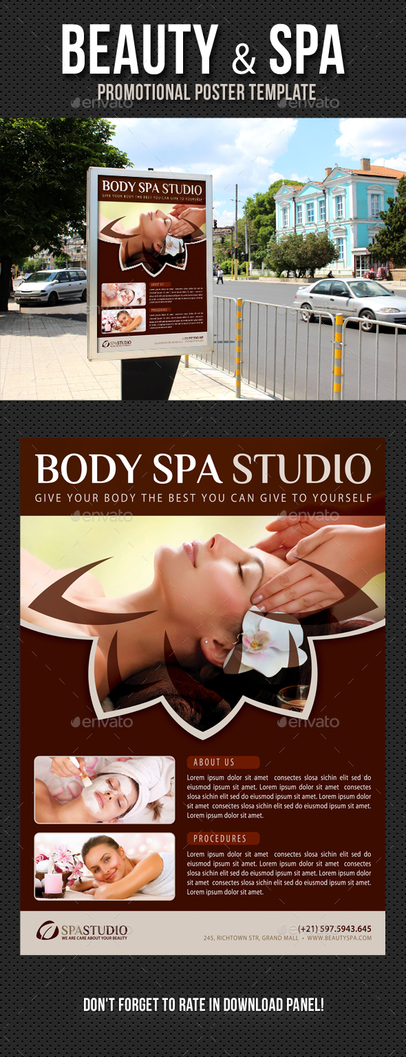 Beauty and Spa Poster Template V04 - Signage Print Templates