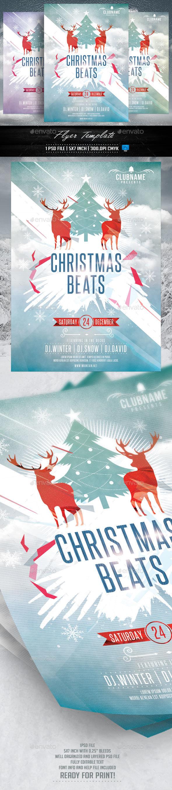 Christmas Beats Flyer - Holidays Events