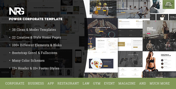 NRG – A Big Multi-Purpose PSD Template
