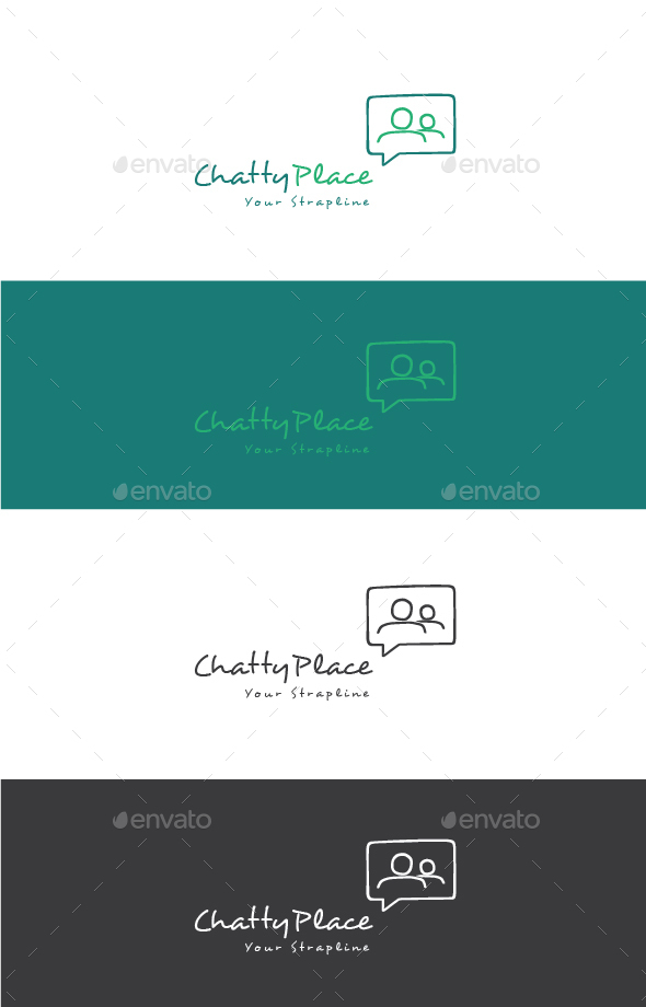 Chatty Place Logo - Humans Logo Templates
