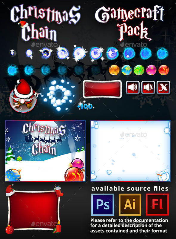 Christmas Chain Game Assets - Game Assets