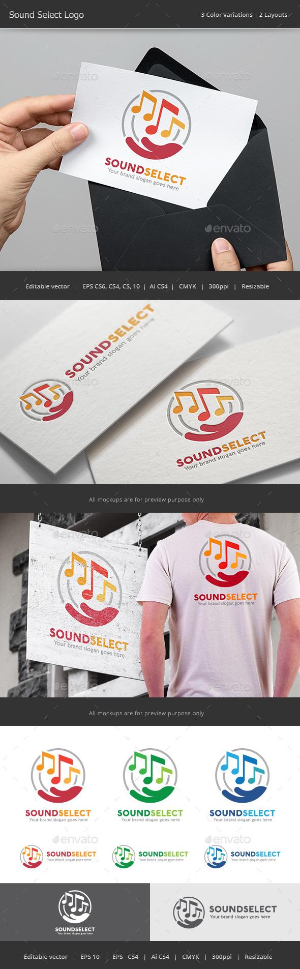 Sound Select Logo - Abstract Logo Templates