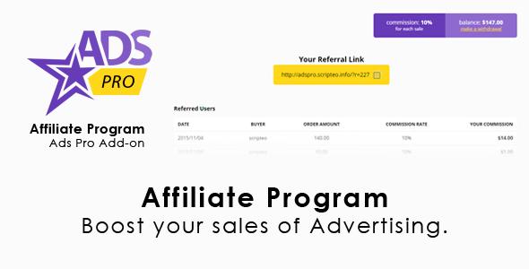 Ads Pro Add-on - WordPress Affiliate Program