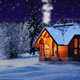 Snowy House In The Night Woods - VideoHive Item for Sale