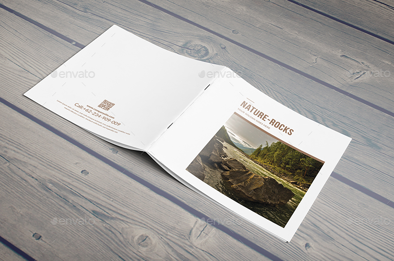 NatureRocks Square Portfolio Brochure Template By Hazemtawfik - Portfolio brochure template
