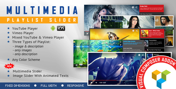 Visual Composer Addon - Multimedia Playlist Slider for WPBakery Page Builder - CodeCanyon Item for Sale