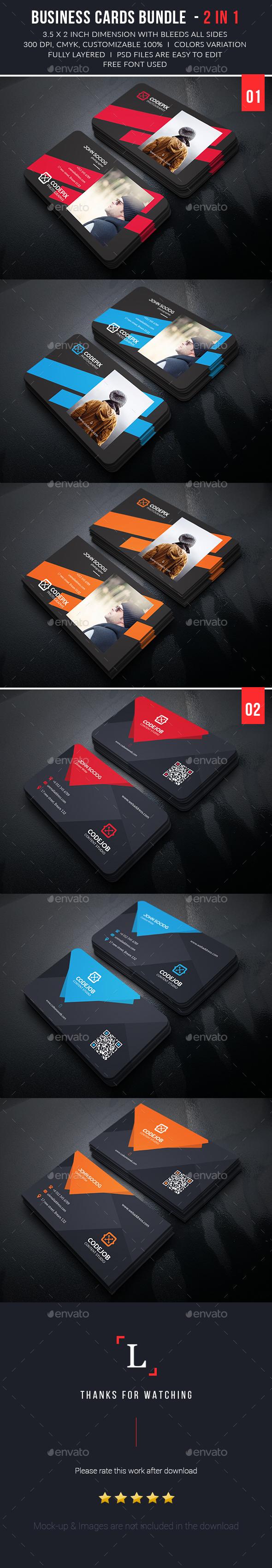 Creative Business Cards Bundle - Business Cards Print Templates