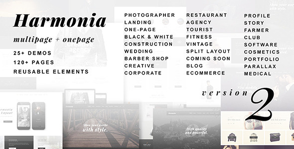 Harmonia - Multipurpose One/Multi-Page Template - Creative Site Templates