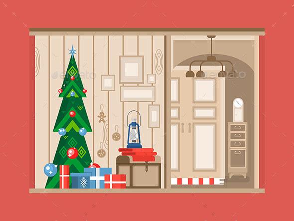 Christmas Tree Interior - Christmas Seasons/Holidays