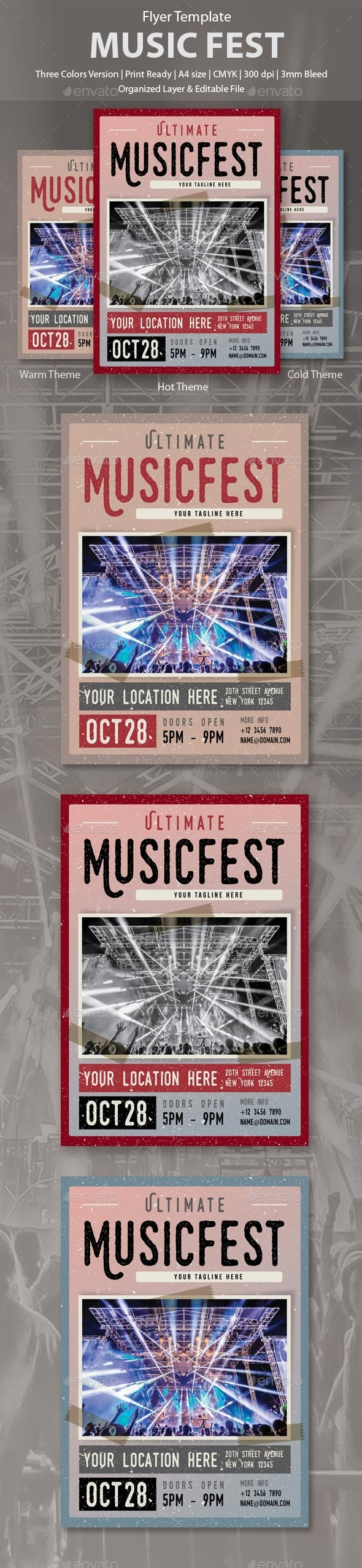 MusicFest Flyer Template - Concerts Events