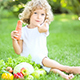 Happy Child Eating Vegetables - VideoHive Item for Sale