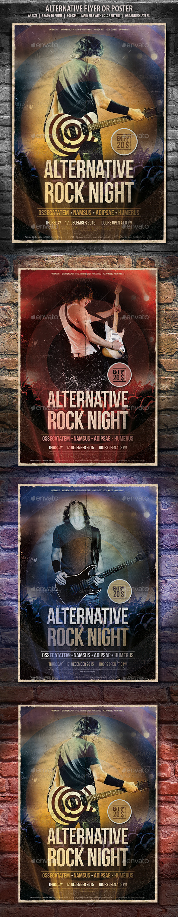 Flyer Alternative Rock  - Concerts Events