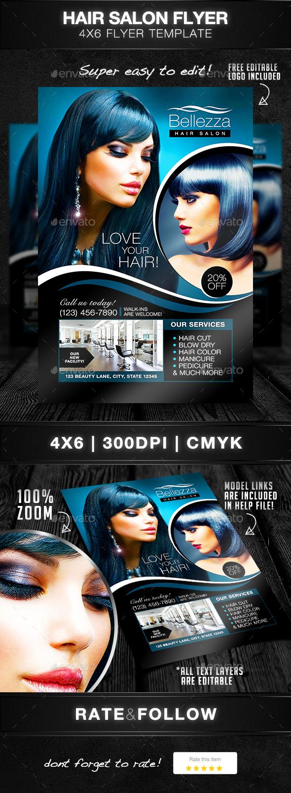Hair Salon Flyer Template