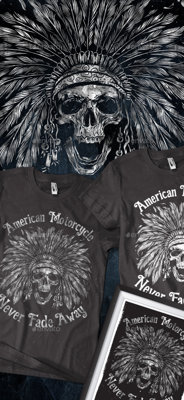 American Motorcycle T-shirt - T-Shirts